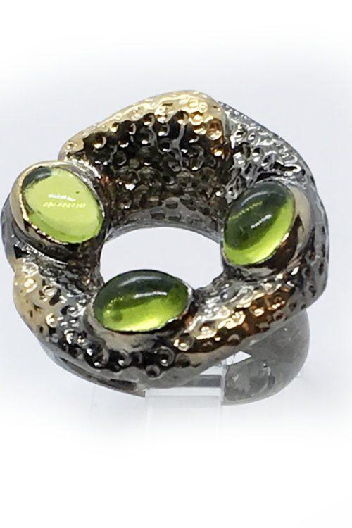 Korund Stone 925 Sterling Silver Ring