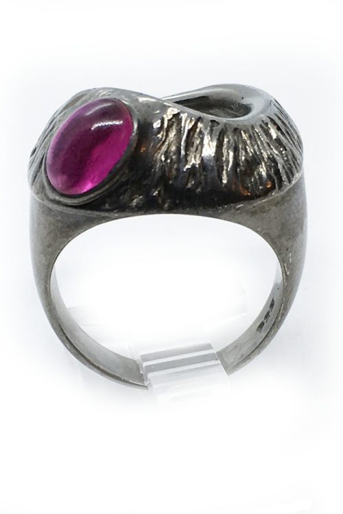 Korund 925 Sterling Silver Black Rhodium Plating Ring