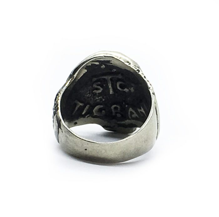 Abstract Women Body Shaped into A Skull Sterling Silver Ring 4