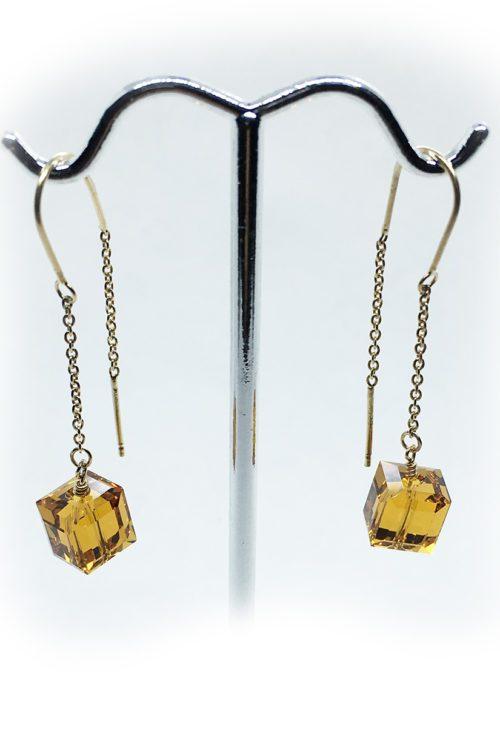 Silver Earrings with Swarovski Stones V7