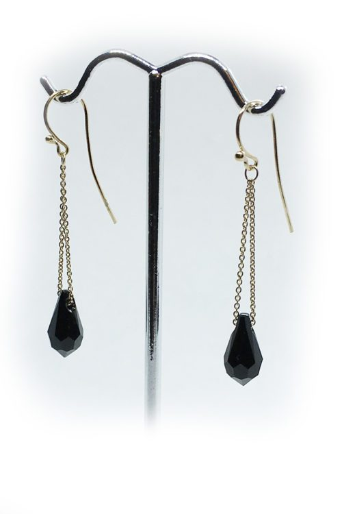 Silver Earrings with Swarovski Stones V9