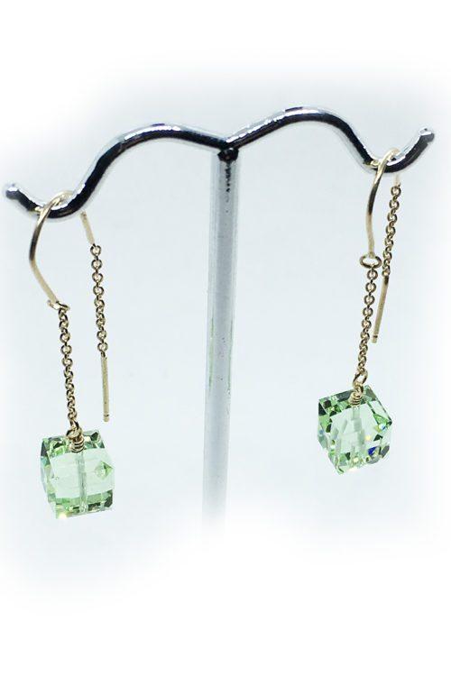 Silver Earrings with Swarovski Stones V3
