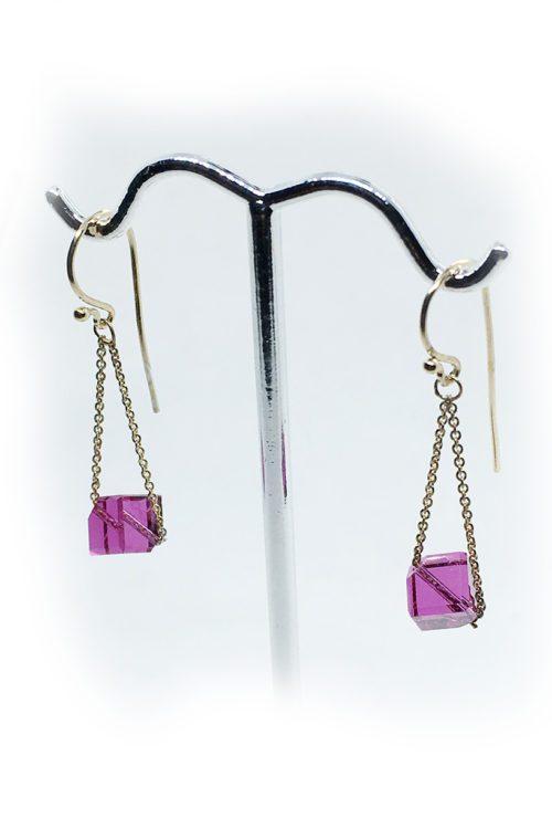 Silver Earrings with Swarovski Stones V4