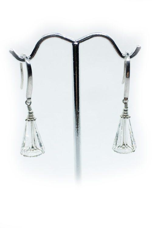 Silver Earrings with Swarovski Stones V6