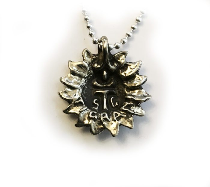 Sun with Moon Silver Pendant 2