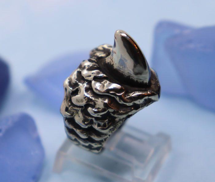 Big Shark Fin Sterling Silver Ring