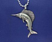 Sailfish Sterling Silver Pendant