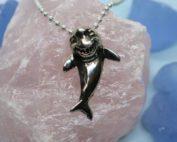 Happy Shark Sterling Silver Pendant