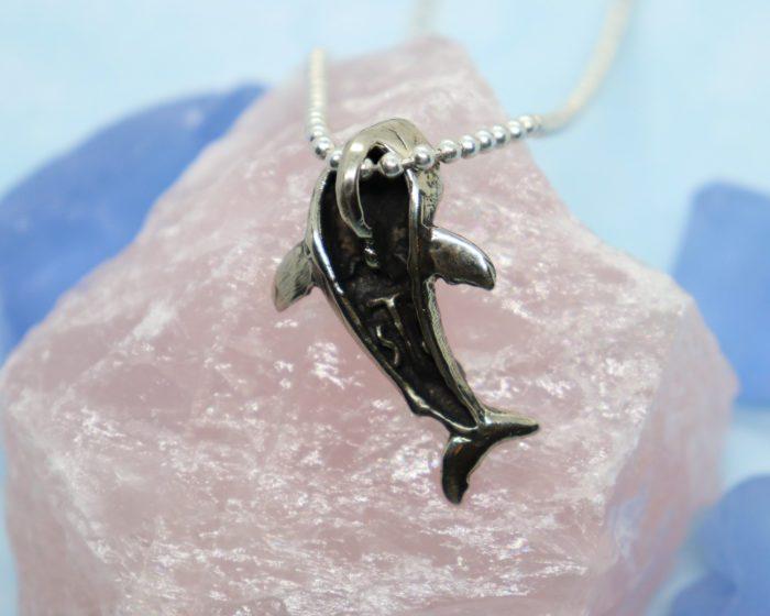 Happy Shark Sterling Silver Pendant 5