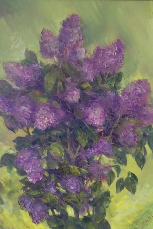 Spring oil painting