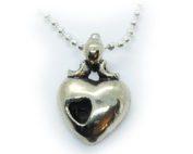 Heart in Heart Sterling Silver Pendant