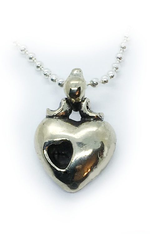 Heart in Heart Sterling Silver Pendant