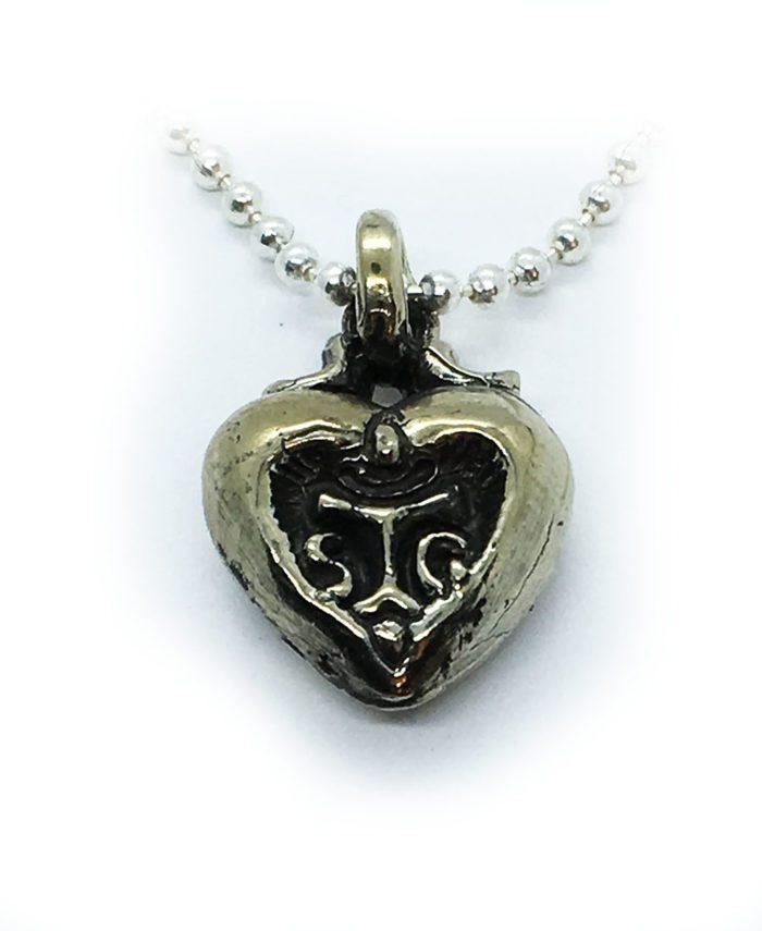Heart in Heart Sterling Silver Pendant 1