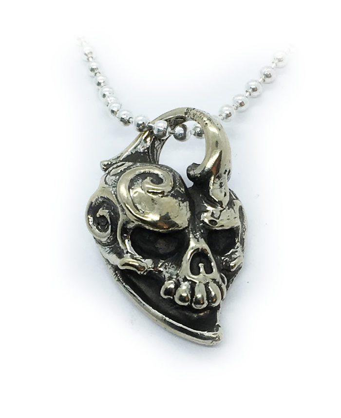 Jokers Love Skull Sterling Silver Pendant