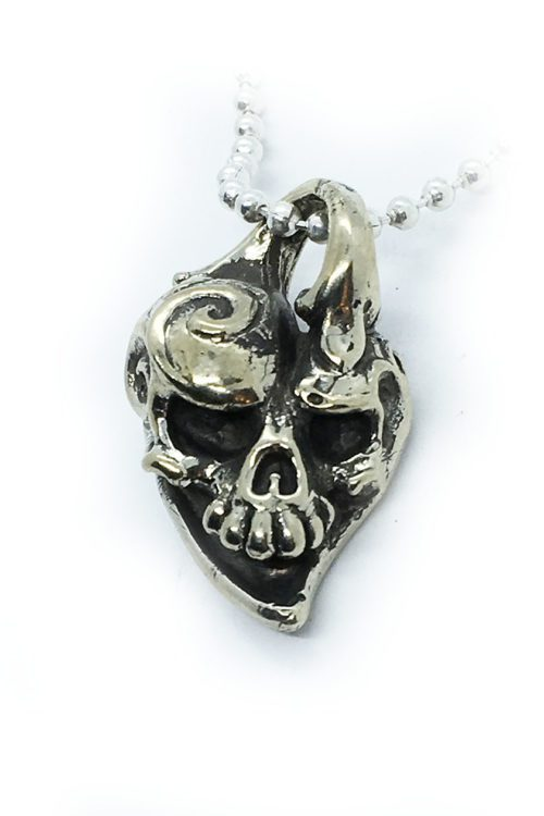 Jokers Love Skull Sterling Silver Pendant