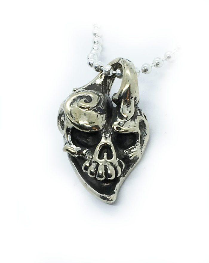 Jokers Love Skull Sterling Silver Pendant 1