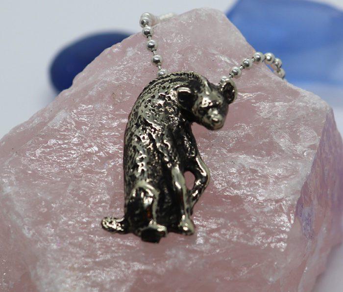 Sterling Silver Hyena Pendant