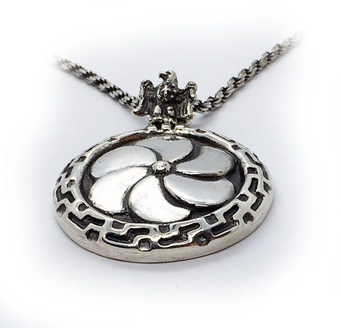 2 Eternity Silver Pendant v2