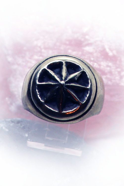 8 Point Star Sterling Silver Ring