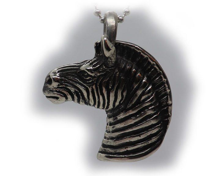 Zebra V2 Sterling Silver Pendant