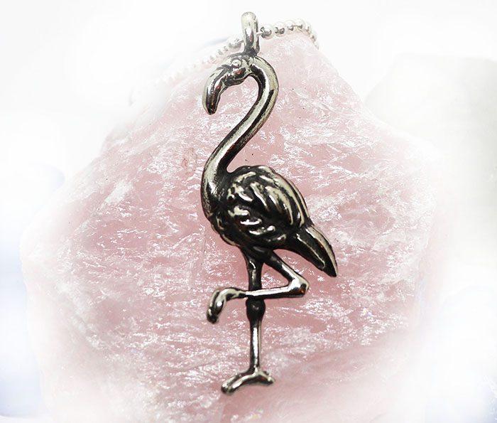 Flamingo Sterling Silver Pendant