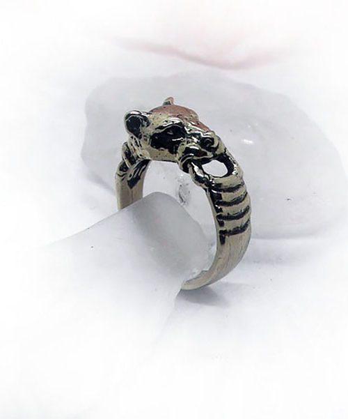 Dog Silver Ring
