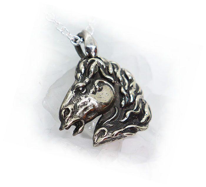Horse Silver Pendant 3