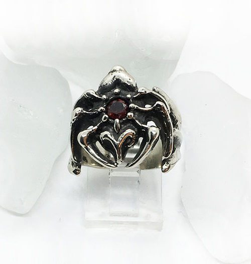 Itsy Bitsy Spider Sterling Silver Ring with Stone