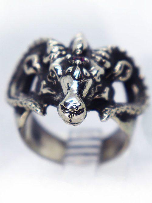 Cool Ram Ring with Garnet Stone
