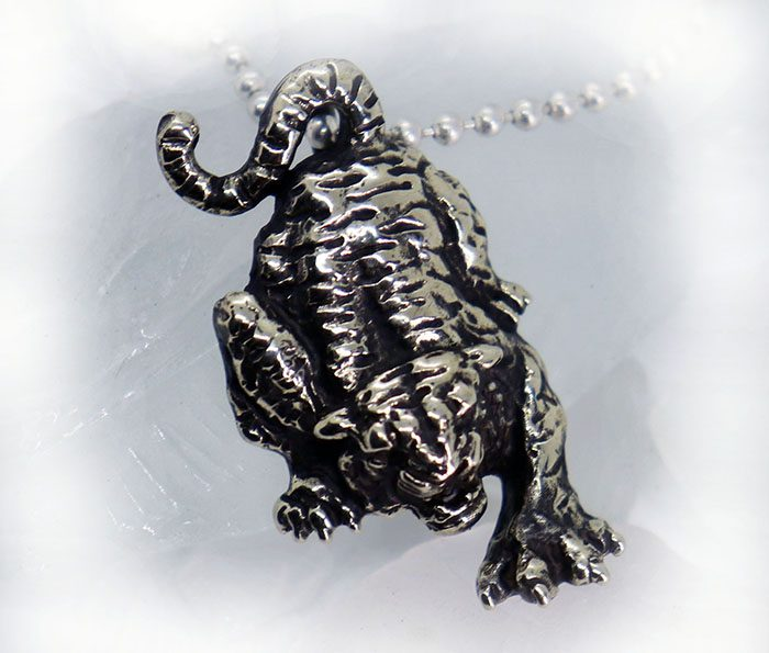 Attacking Tiger Sterling Silver Pendant 2