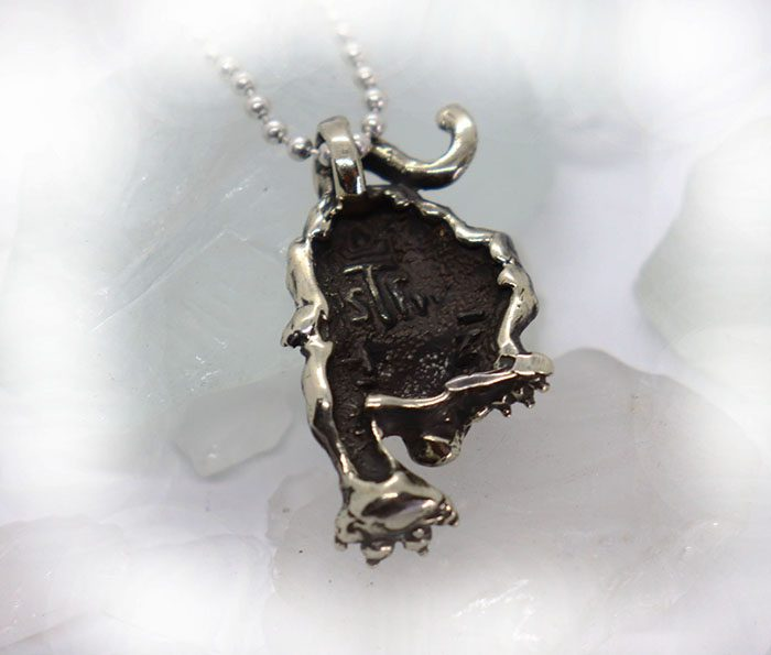 Attacking Tiger Sterling Silver Pendant 4