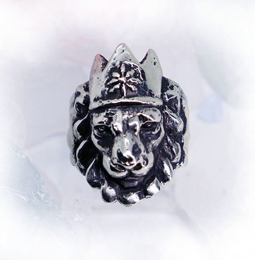 Crown Lion King Sterling Silver Ring
