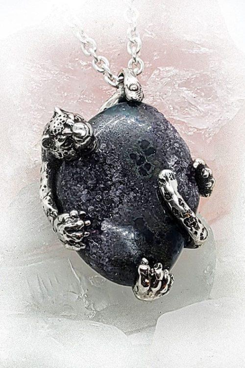 Jaguar Natural Amethyst necklace