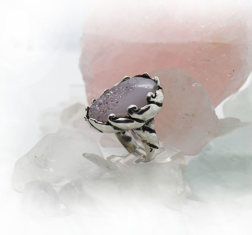 Natural Amethyst Stone Sterling Silver Ring