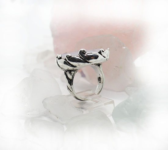 Natural Amethyst Stone Sterling Silver Ring 2