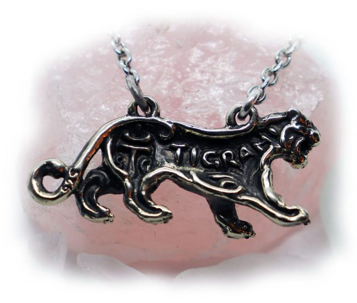 Female Lion Sterling Silver Necklace 3