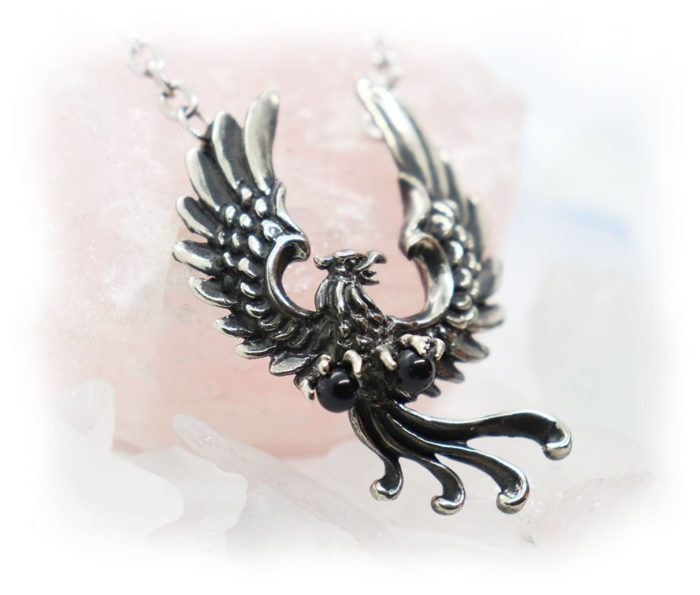 Phoenix Firebird Sterling Silver Necklace 2