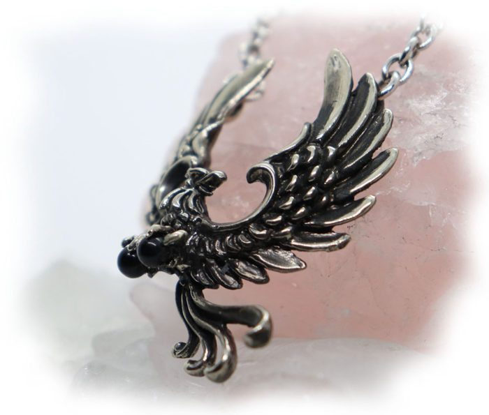 Phoenix Firebird Sterling Silver Necklace 3