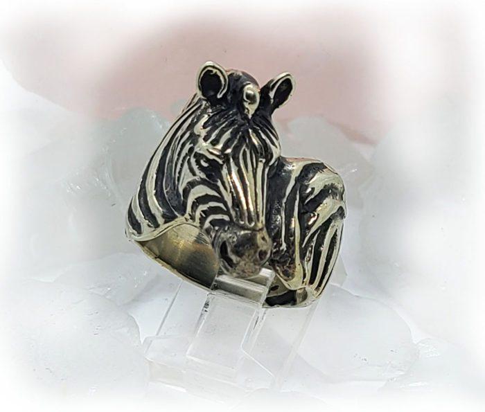 Zebra Sterling Silver Ring 2