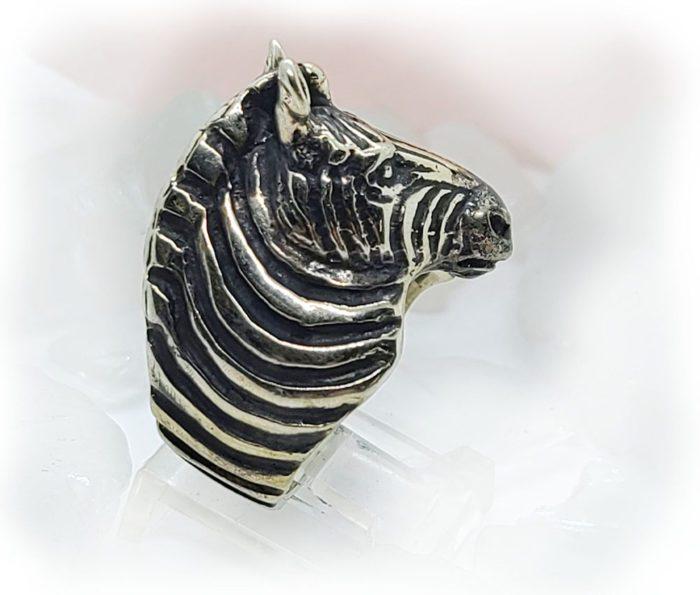 Zebra Sterling Silver Ring 3