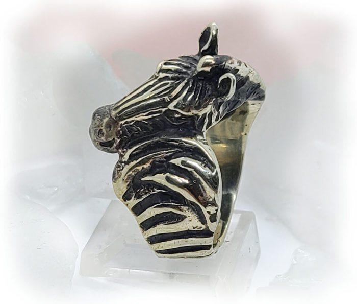 Zebra Sterling Silver Ring 4