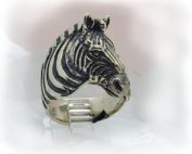 Zebra Sterling Silver Ring