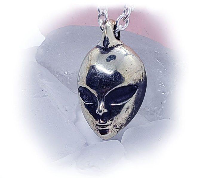 Alien Sterling Silver Pendant 2