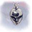 Alien Sterling Silver Pendant