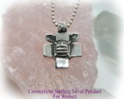 Coronavirus Sterling Silver Pendant for Women