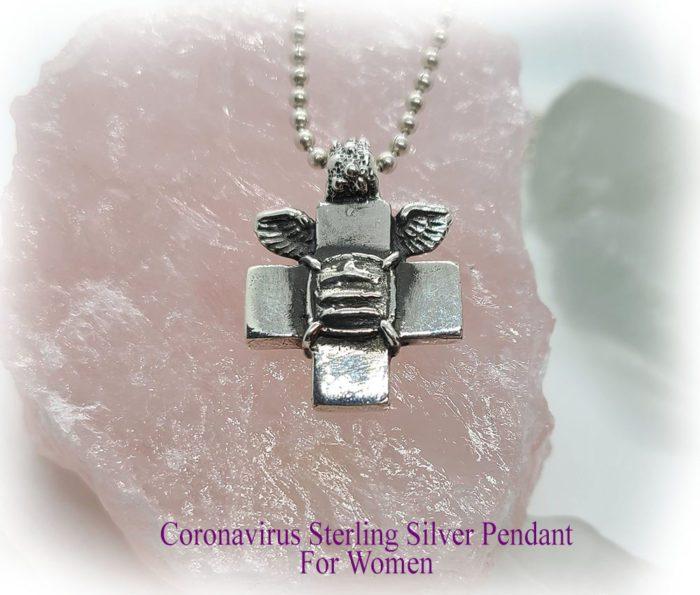 Coronavirus Sterling Silver Pendant for Women