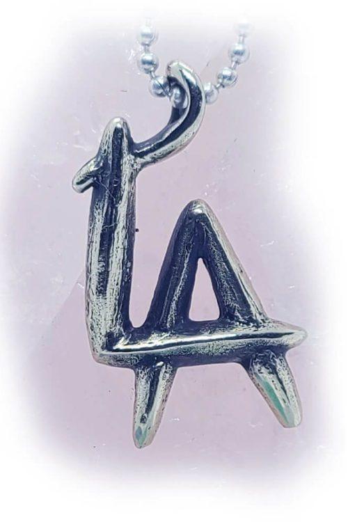 LA Silver Pendant v2