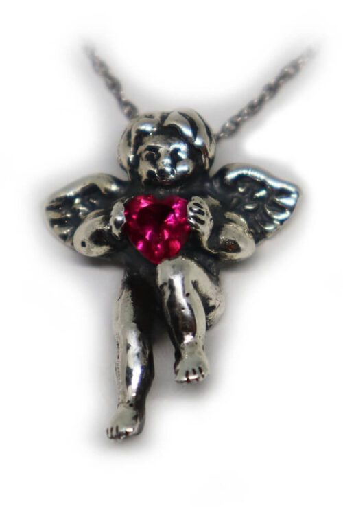 Angel Heart Stone Necklace