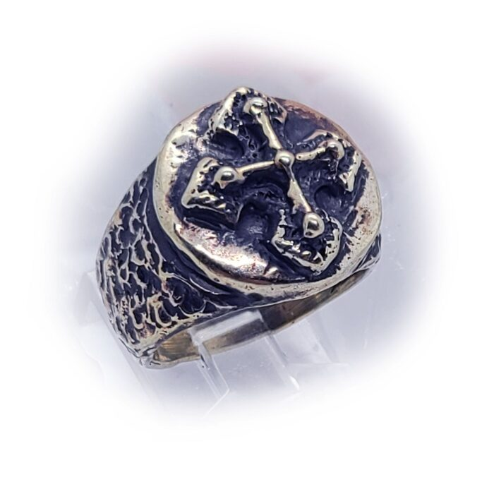 Antique Cross Silver Ring 2