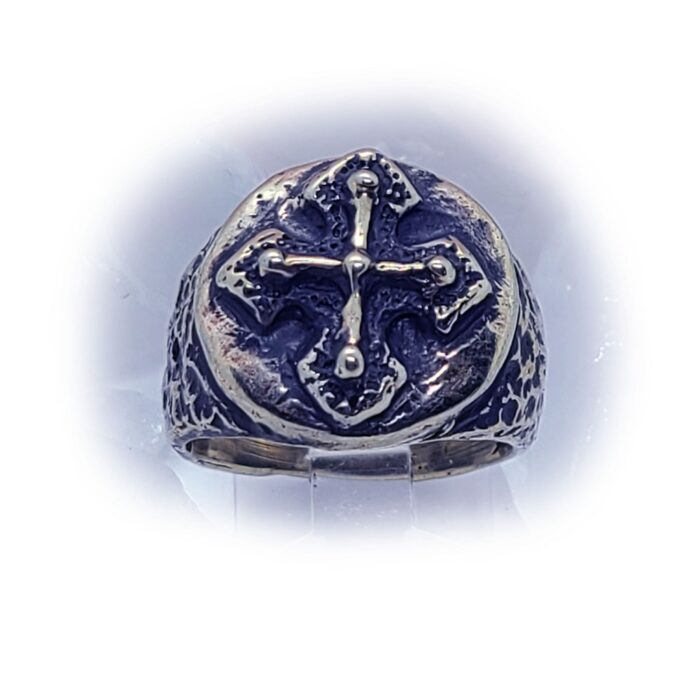 Antique Cross Silver Ring 3